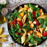 a bowl of vegetable pasta putting on the table-feature-ca | Feature| 7 Best Vegan Pasta Recipes That Won't Bore You